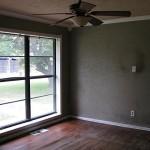 Living room with wood floor
