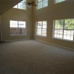 2 Ceiling fans to cool the living room!  Dramatic windows